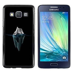 Caucho caso de Shell duro de la cubierta de accesorios de protección BY RAYDREAMMM - Samsung Galaxy A3 SM-A300 - Polygon Iceberg