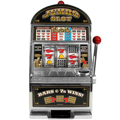 TMG Table Top Jumbo Slot Machine Bank with Free Dice (Slot Bank Jumbo)