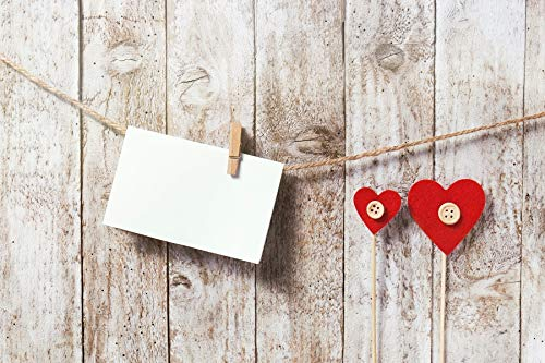 CSFOTO Valentine's Day Backdrop 5x3ft Photography Background Lover Letter Wooden Plank Love Loving Heart Mother's Day Father's Day Interior Decoration Lovers Kids Newborn Photo Shoot Studio Props