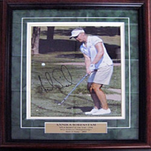 Annika Sorenstam Autographed / Signed Golf Framed Photo - Annika Sorenstam Autographed Golf
