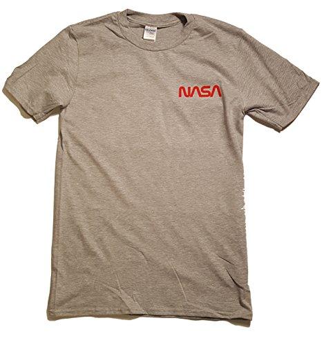 Maglietta Mens Di stampa Il Licenza Grigio Worm Premium Nasa Logo Distintivo Vinile 016q1wX
