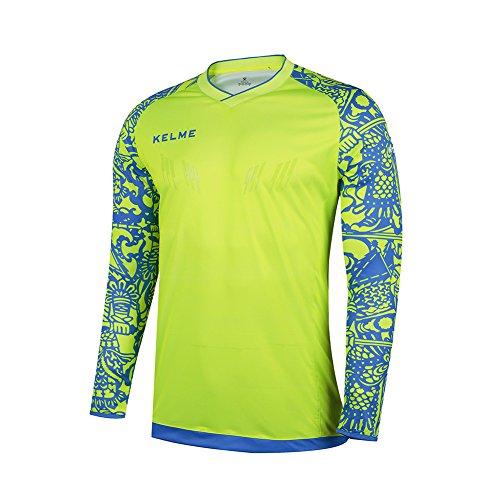 KELME Goalkeeper Jersey 2016 Summer Sleeve Professional Training Shirt (Small, Yellow)