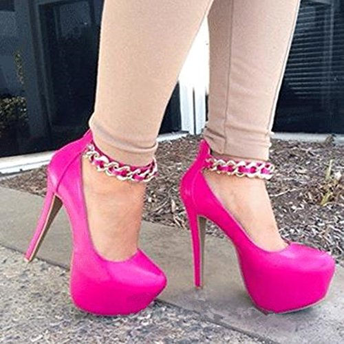 Heeled Lavender 10 VIVIOO Beautiful Sweet Toe Shoes Four 14 Purple Pink Black And 5 Round Cm Colors Pu Sandals Pumps Red Prom High ra1qaxB