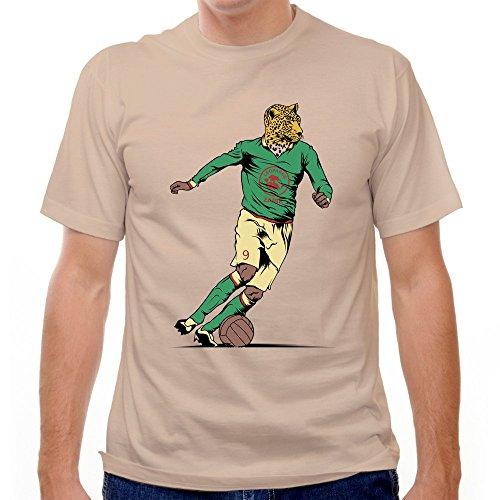 Zaire Leopards 1974 World Cup Soccer T-shirt, Crème, XX (1974 Football World Cup)