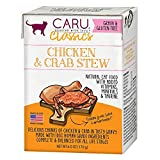 Caru - Chicken & Crab Stew For Cats, Natural Cat Food With Added Vitamins, Non-Gmo Ingredients, Complete And Balanced For All Stages Of Life (6 Oz)