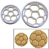 SET of 2 Soccer Ball cookie cutters (large and small size), 2 pcs, Ideal as treats for sports team bonding