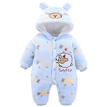 Baby Overalls mit Kapuze Spielanzug Winter Schneeanz/üge S/äugling Strampler Outfits 3-6 Monate
