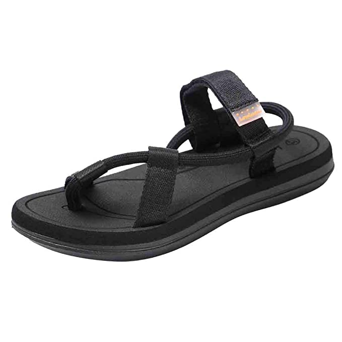 146a868d2375 HHei K Summer Fashion Unisex Sandals Breathable Double-Purpose Slippers  Velcro Sandals Outdoor Couples Beach Shoes