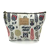 HUNGER Night Owl Print Make-Up Cosmetic Tote Bag Carry Case , 9 Patterns (P1141702)
