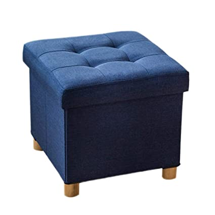 Delicieux Home Furniture Footstools Folding Storage Ottoman,Cube Collapsible Footstool  Upholstered Footrest Stool With 4