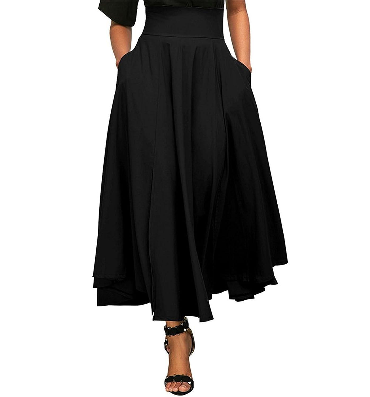 new arrival fd461 901d5 chic Rock Damen Elegant Mode Tailliert Pockets Mit Plissee ...