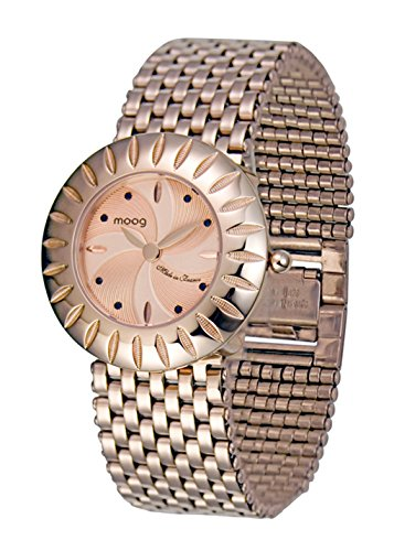 Moog Paris Petale Women's Watch with Rose Gold Dial, Rose Gold Stainless Steel Strap & Swarovski Elements - M45504-003