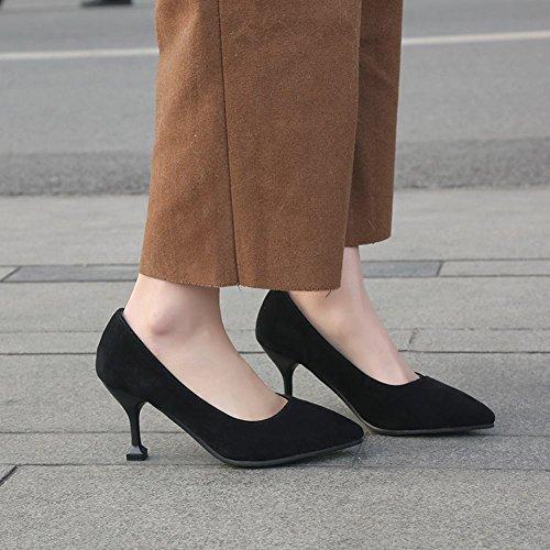Mee Shoes Women's Charm Slip On Size 2-8 Court Shoes Black UdGmc5BVS