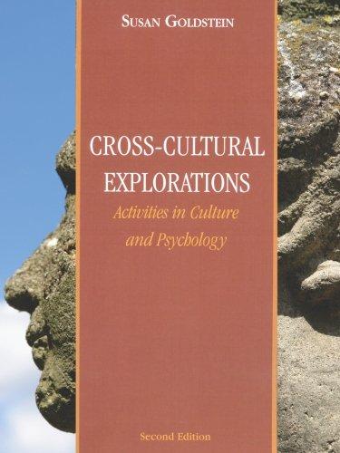 Cultural Activities (Cross-Cultural Explorations: Activities in Culture and Psychology)
