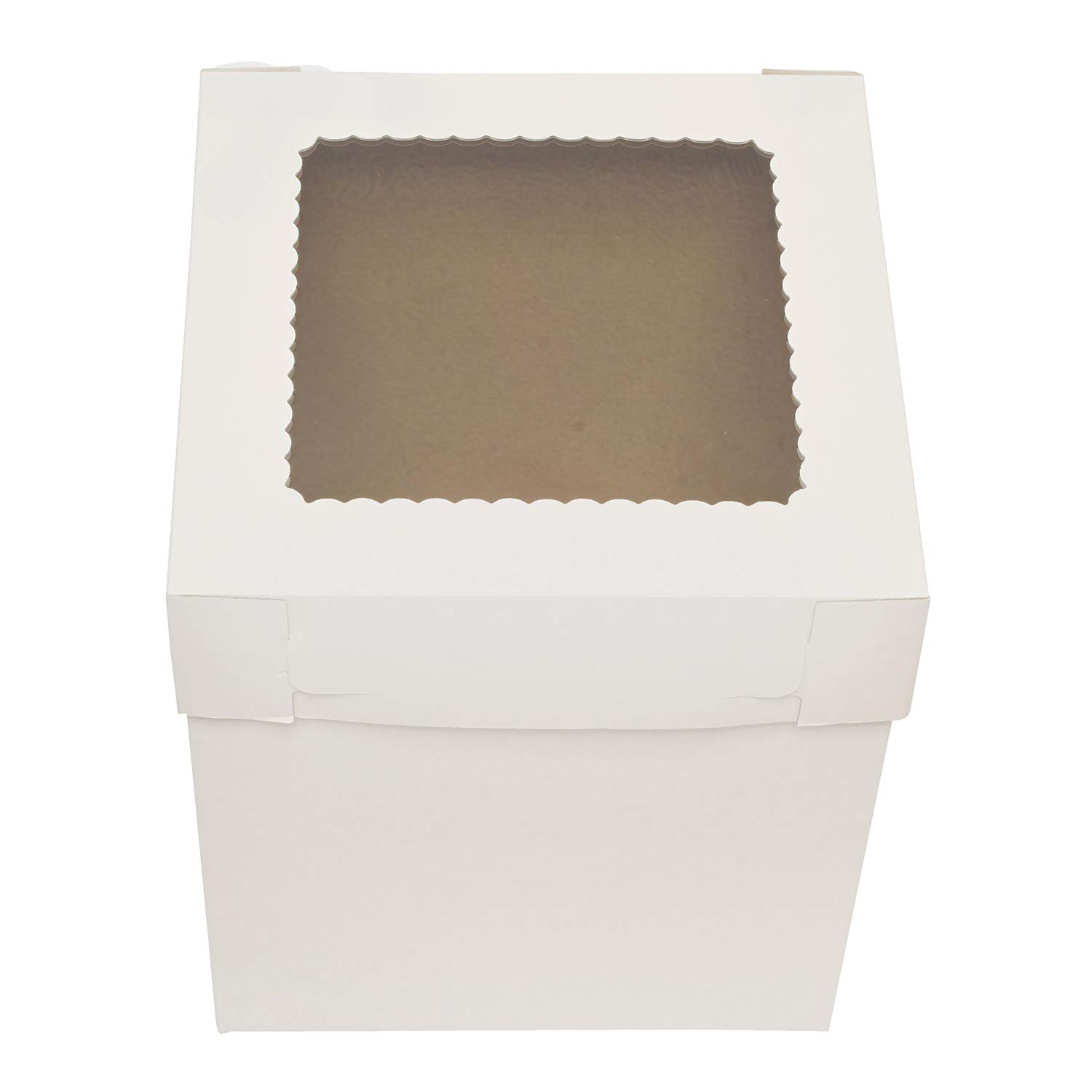 SpecialT Cake Boxes with Window 25pk 8'' x 8'' x 8'' Inch White Bakery Boxes, Disposable Cake Containers, Dessert Boxes by coolcha's (Image #5)