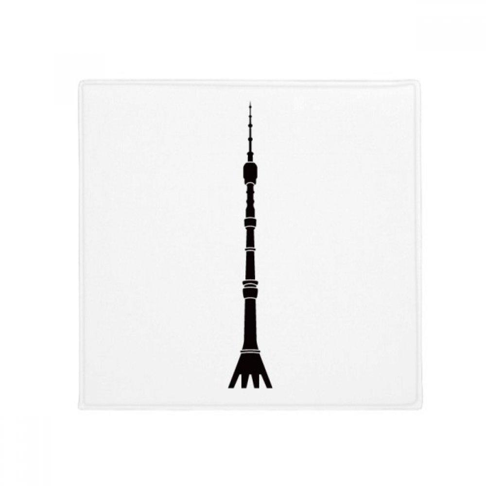 DIYthinker Moscow Ostankino Tower Anti-Slip Floor Pet Mat Square Home Kitchen Door 80Cm Gift
