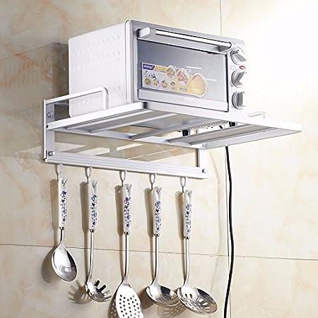 lzzfw Espacio Aluminio Horno microondas Horno Cocina Pared ...