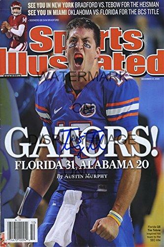 Florida Gators Sports Illustrated Sec Championship Autograph Replica Poster - Tim Tebow
