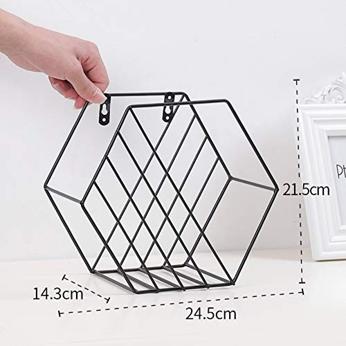 Used, Patgoal Metal Wire Geometric Hexagon Design Wall-Mounted for sale  Delivered anywhere in Canada