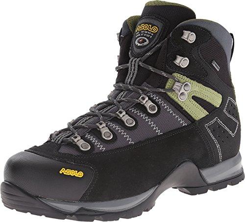 Asolo Men's Fugitive GTX Hiking Boots, Black / Gun Metal, 14 D(M) US