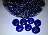 TBC Decorative Stones: Cobalt Blue 100% Flat Glass Gemstones. Vase Fillers Use in Floral Arrangements, with Candles, Aquariums, Wet or Dry. Great for an Eye Catching Centerpiece. Can Also Be Used in Games. Aprox 75 stones per bag.