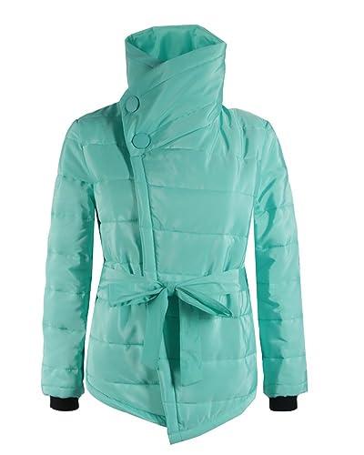 Mujer Casual Espesar Cálido Abrigo Acolchado Chaquetas con Capucha LakeVerde XL