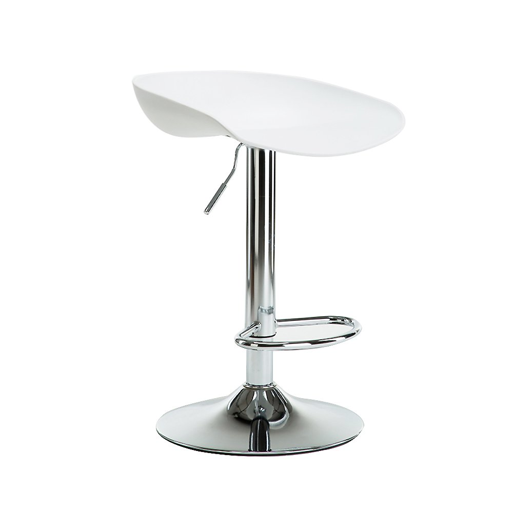 A Adjustable Height Bar Stools, Swivel Kitchen Chair Bar Stools with Back Plastic seat Lift Chair Front Desk Chair-E