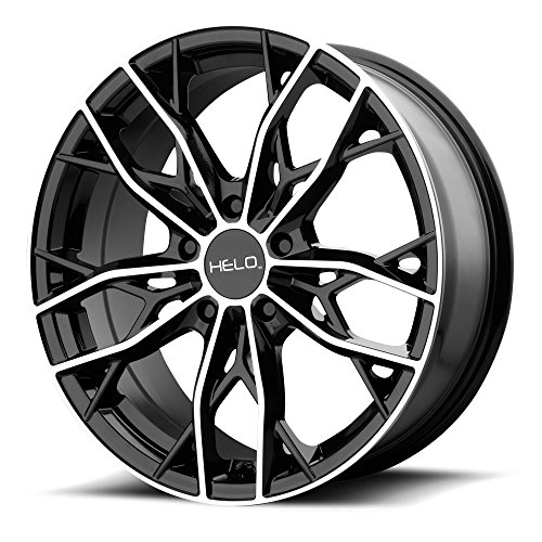 Helo HE907 16x7 5x114.3 +38mm Black/Machined Wheel Rim