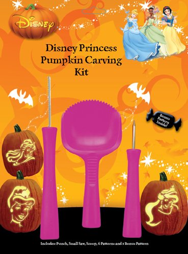 PMG Princess Pumpkin Carving Kit, 3 Carving Tools, 7 Stencil Patterns