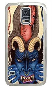 Blue Demon Custom Samsung Galaxy S5/Samsung S5 Case Cover Polycarbonate Transparent