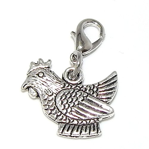 sterling silver charms chicken - 5