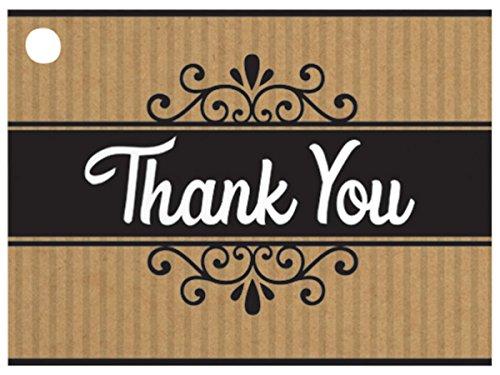 [해외]감사 합니다 크 라프 트 줄무늬 테마 선물 (6 팩) 3 ~ 3 × 4 \\ / Thank You Kraft Stripes Theme Gift (6 Pack ) 3-34x2-34