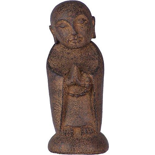 New Age Volcanic Stone Statue Jizo Buddha Brown each