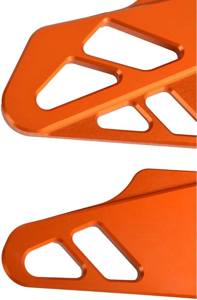 Motocicleta CNC Aluminio Protecci/ón de Estriberas Guardia del Tal/ón para Duke 125 250 390 2017-2020-Naranja
