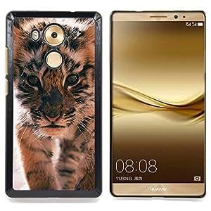 /Skull Market/ - Tiger Cub Roar Cute Puppy Animal Furry For Huawei Mate 8 - Mano cubierta de la caja pintada de encargo de lujo -