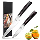 Knife Set,Imarku 2-Piece Kitchen Knives Chef Knife Set with Ergonomic Wooden Handle,Stainless Steel Utility Knife,Paring Knife