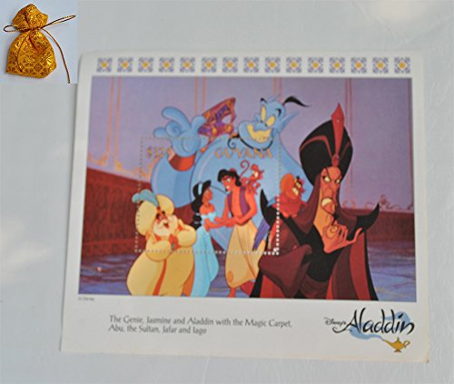Guyana 1993 Disney's Aladdin Animated Film Story In Postage Stamps Sheet MNH # 1 Val. $325 Rare Collectible Postal Cards Get Free Unique Design Gift