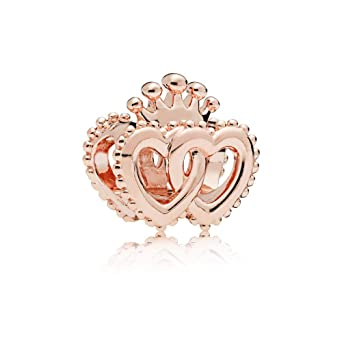 b7195091e Image Unavailable. Image not available for. Color: Pandora Rose United  Regal Hearts Charm 787670