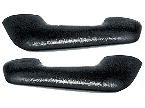 Black Arm Rest Pads Pair 1960-64 Falcon 1959 Galaxie Sunliner 62-64 Fairlane 59-66 F100 F250 (C8TZ-8124140/1BK)