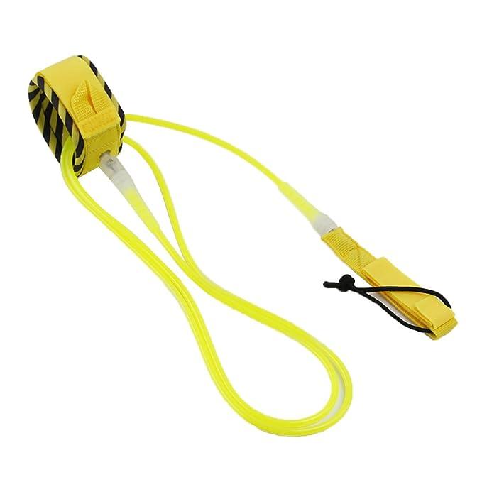 NON Sharplace 1 Unidad de Correa de Tabla de Surf para Juegos y Diversiones en Agua Abierta - Amarillo 10 pies: Amazon.es: Deportes y aire libre