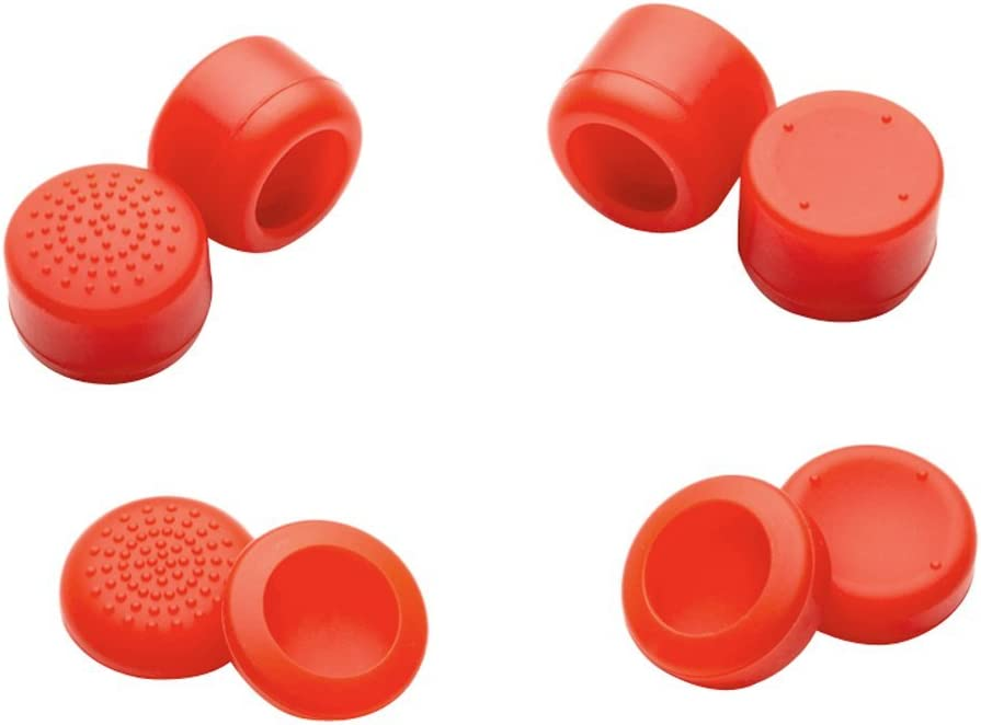 eXtremeRate Green Sweat Free Anti-Slip Pack of 8 Silicone Rubber Precision Platporm Raised Analog Sticks Thumb Grips for PS4 PS4 Slim PS4 Pro Thumbsticks