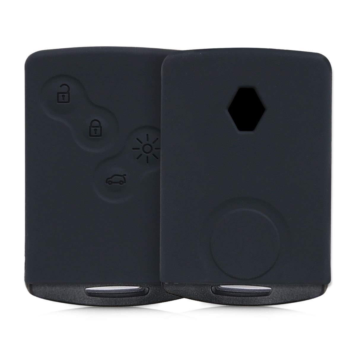 kwmobile Funda de Silicona para Llave de 4 Botones para Coche Renault (Solamente Keyless Go) - Carcasa Protectora [Suave] de [Silicona] - Case Mando de Auto [Azul] KW-Commerce 44704.04_m000691