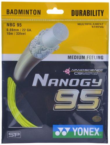 Yonex Nanogy 95 Badminton Strings, 0.69mm Price & Reviews