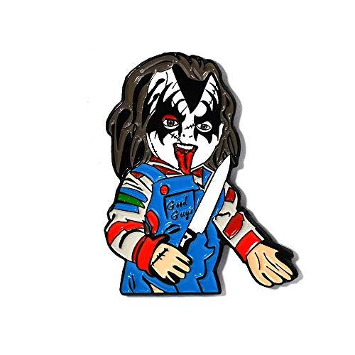 Chucky Doll Collectible Kiss Army Gene Simmons Enamel Lapel Hat Pin Pendant