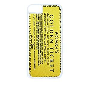 Willy Wonka Golden Ticket Hard White Plastic Snap - On Case-Apple Iphone 5 - 5s - Great Quality!