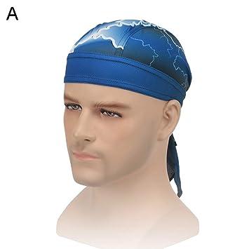 Cycling Cap Pirate Hat Headband Sweatproof MTB Sports Bicycle Headscarf Noted