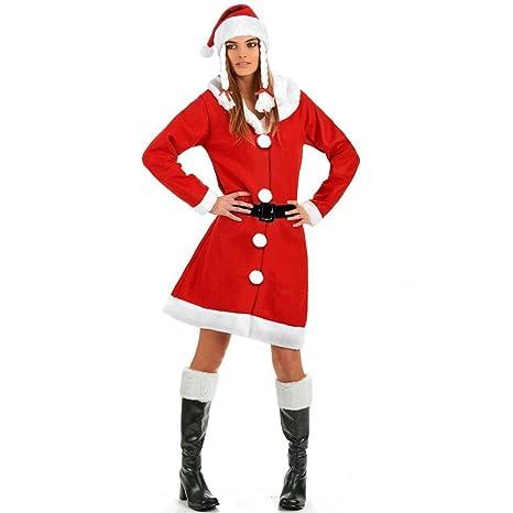 Fair Vestito Babbo Natale Donna Costume Natalizio Cappello con Trecce  Taglia Unica c7809e7c384