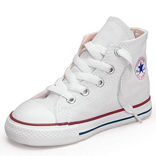 Converse - Zapatillas de tela para niños Bianco (bianco)