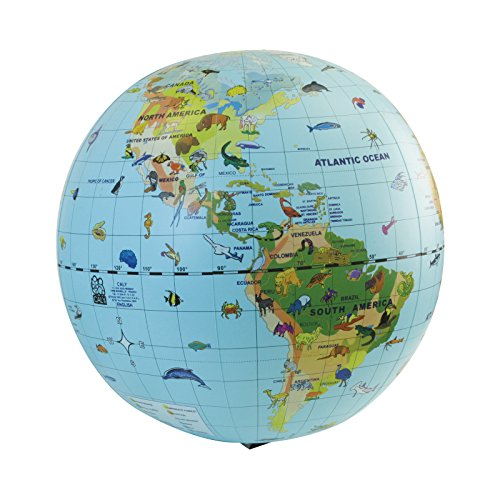 Wholesale Animal Quest 20 inch Inflatable Species Globe & Game (Age 6+) supplier