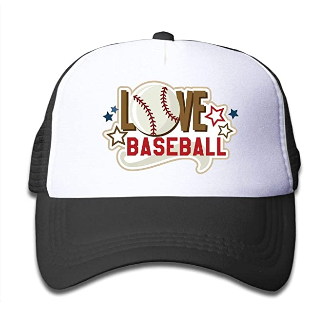 b9d39eaebe33b SSUJ7 Love Baseball SVG Custom Boys Girls Adjustable Baseball Hats for Kids